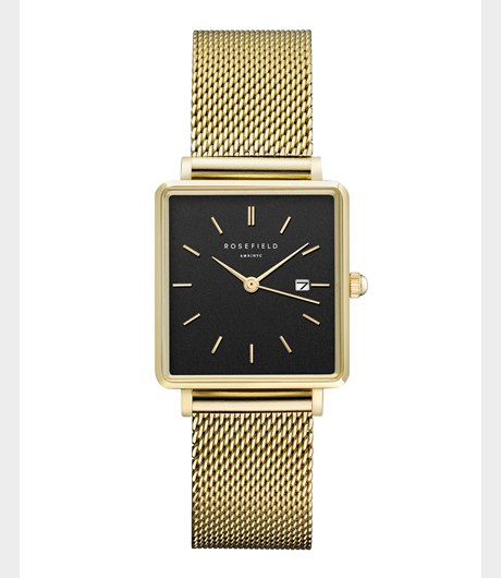 The Boxy Black Mesh Gold